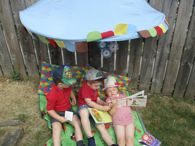 Our new outdoor reading area!