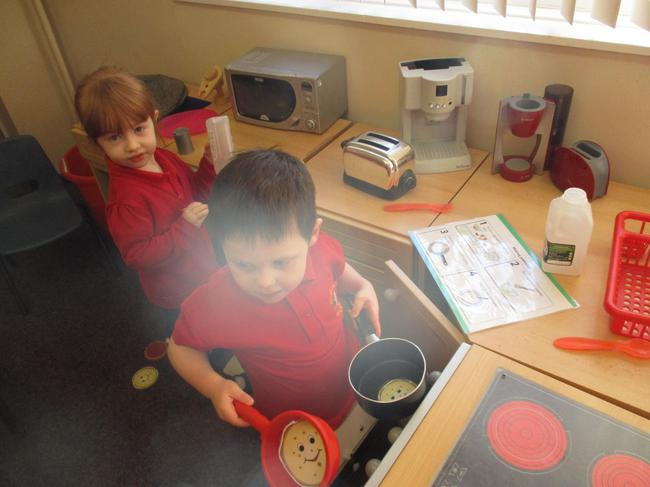 Role play - making our pancakes!