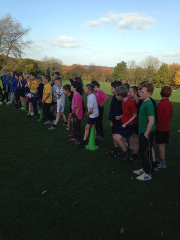 Start of the race at Eckington School.