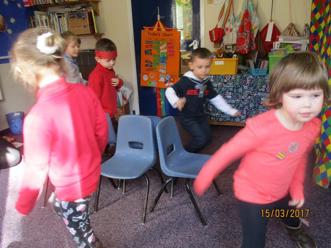 We played Musical Chairs