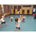 Scarf dancing in PE