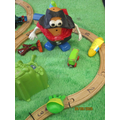 Oh no! Super onion is on the train track!!