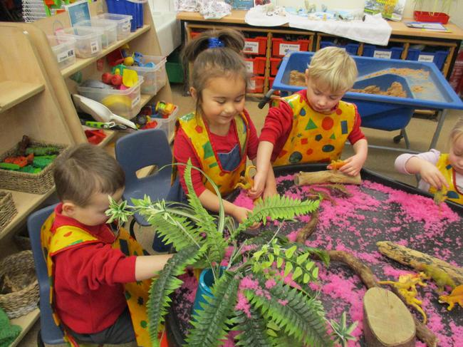 Small world: Dinosaurs in gloop!