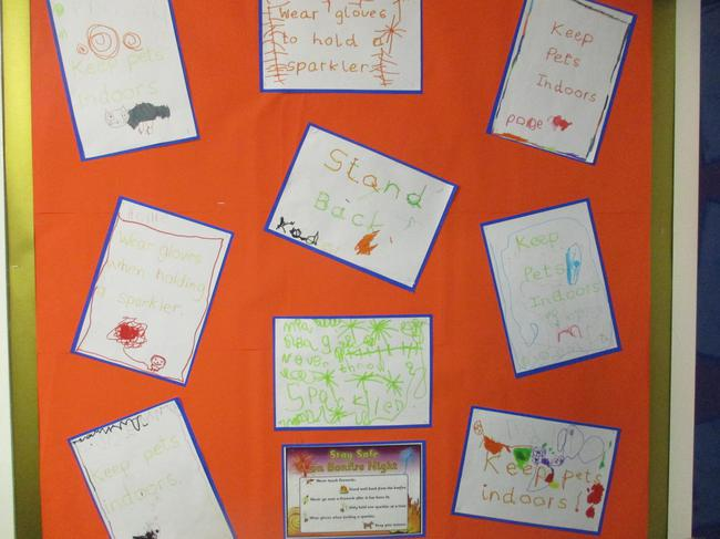 We made Firework safety posters