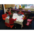 A group game of bingo to help us recognise numbers