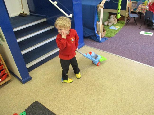 Hoovering nursery!