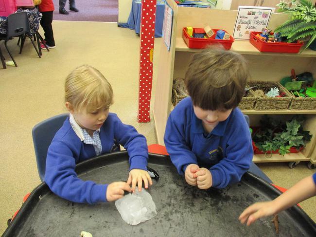 Exploring ice.