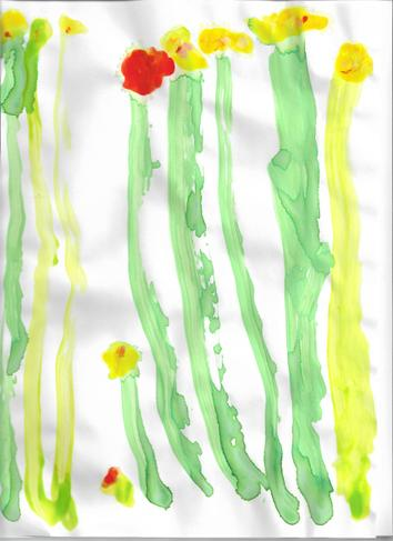 A painting by Mr Blake's son (aged 3)