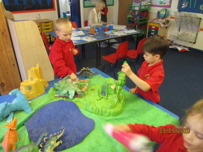 exploring dinosaur land