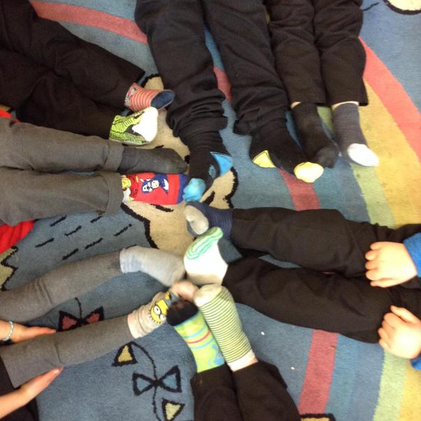 We wore odd socks to raise awareness of how all our differences should be valued.