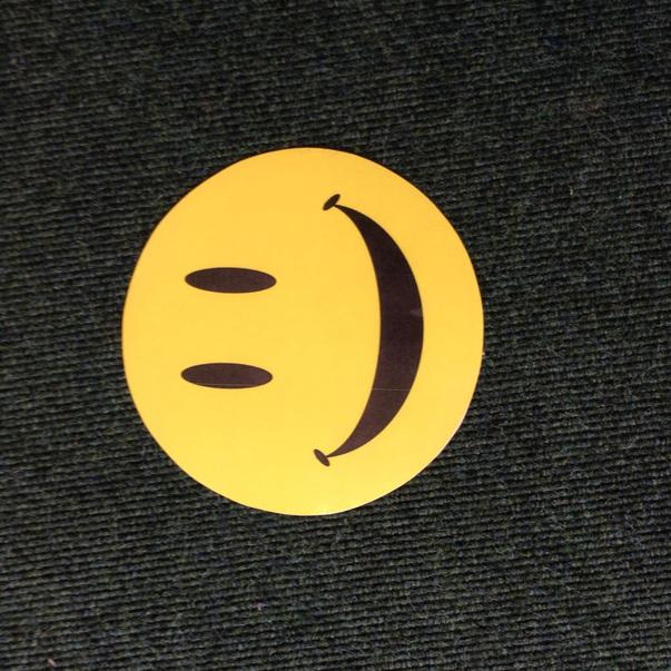 Our own smiley face to sit on for circle time.