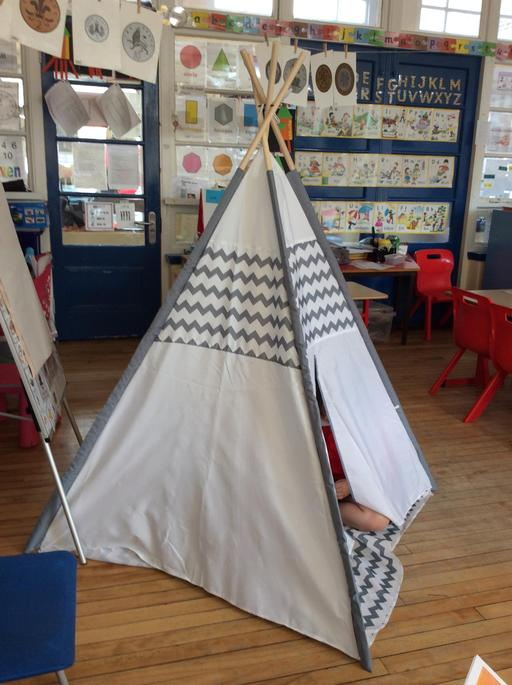 Here is our Teepee we sang campfire songs too!