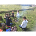 Toasting marshmallows on the campfire - delicious!