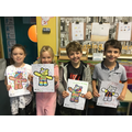 Year 3 Pudsey Bear Colouring Competition Winners