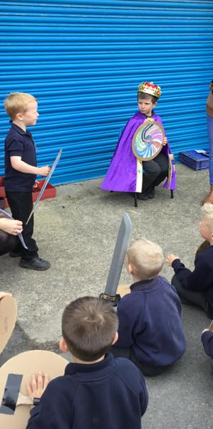 William of Normandy making his declaration.