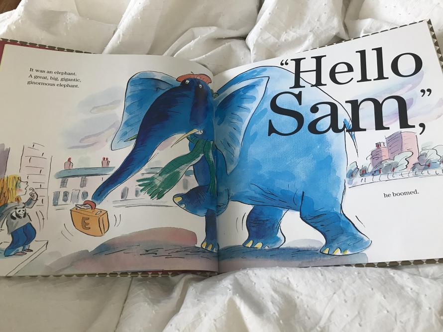 An elephant turns up at Sam's house!