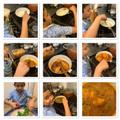 Yasin making chicken curry
