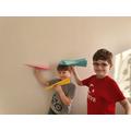 Bilal's paper aeroplane race
