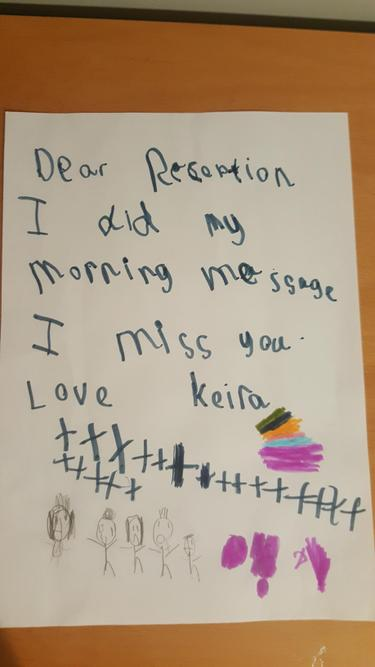 """""""I did my morning message I miss you"""""""