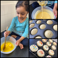 Zoya baking cupcakes