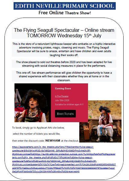 Free online theatre show - tomorrow- watch the trailer below