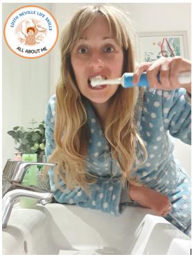 Cleaning my teeth