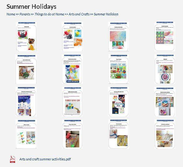 Lots of art activities to do over the summer- click on the link below