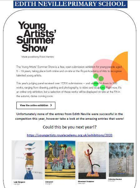 The young artist summer show is up online- take a look!