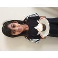 Zaynah's beautifully iced cupcake