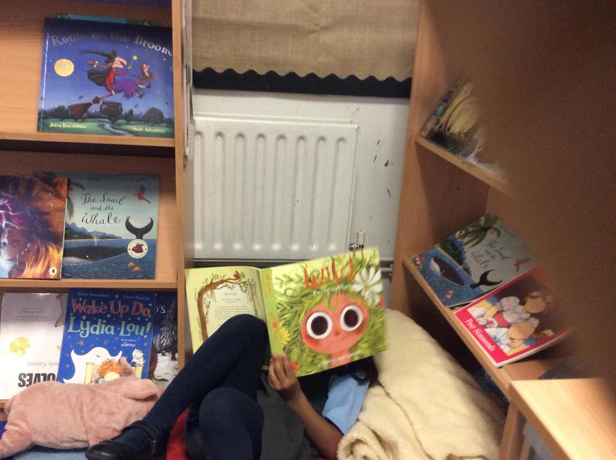 We have been enjoying the books we borrowed.