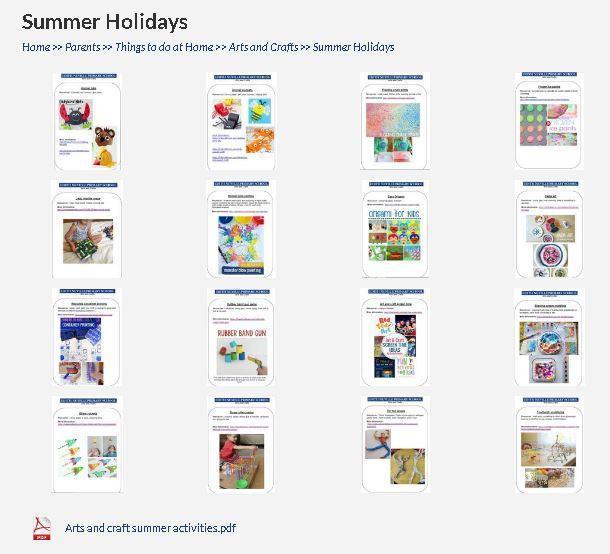 Lots of fun art activities to do over the summer- click the link below