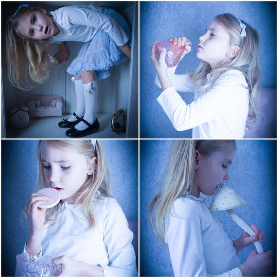 Sophie as Alice in wonderland