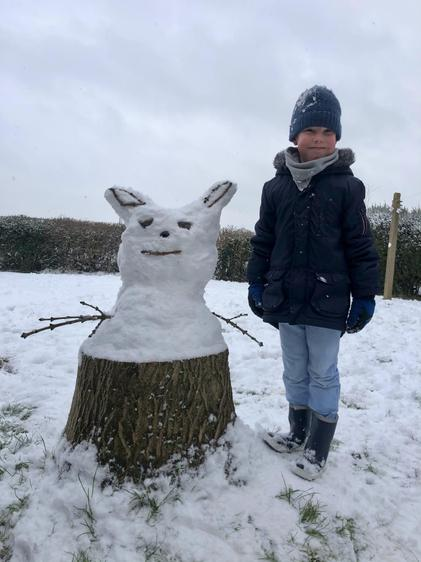 Zachary's Snow Yoda - Excellent it is!