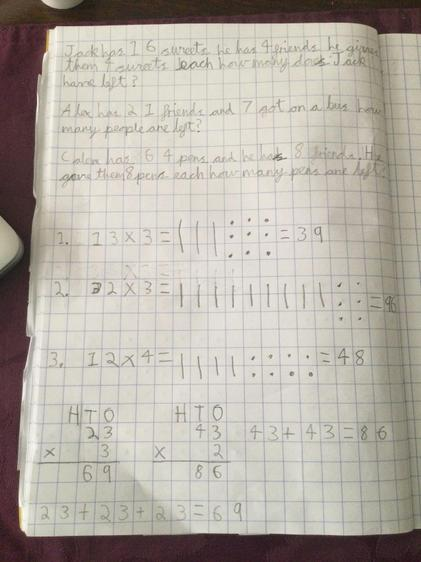 Good problem solving Zachary and lovely short multiplication work