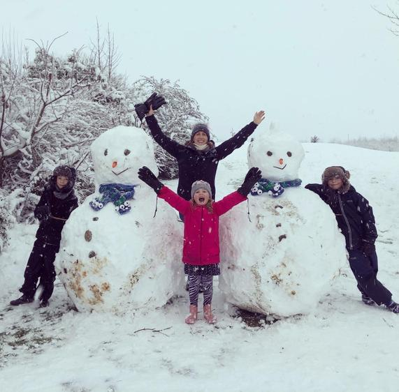 The Driver Family and Snow Friends!