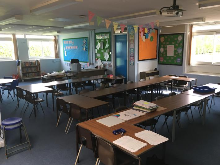 Basalt classroom after re-decorating