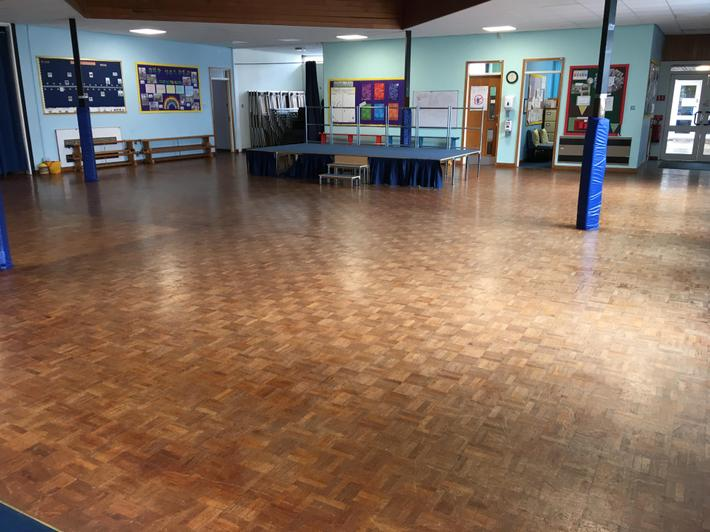 School Hall with staging