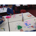 We made kites out of different materials.