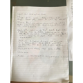 Finley's letter to his grandparents!