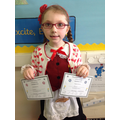 Elinor came first in the welsh speaking competition and second in the cooking competition