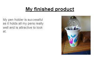 Imogen's recycling project