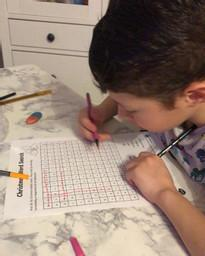 Berat doing a Christmas wordsearch