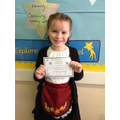 Caitlin came first in the singing competition!