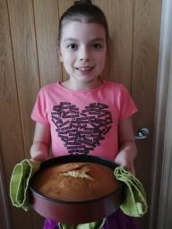 Caitlin has made a cake-mmmm!