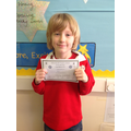 Tom came first in the cooking competition!