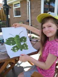 Amelia's natural art-a butterfly!