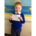 Rhys came second in the singing competition