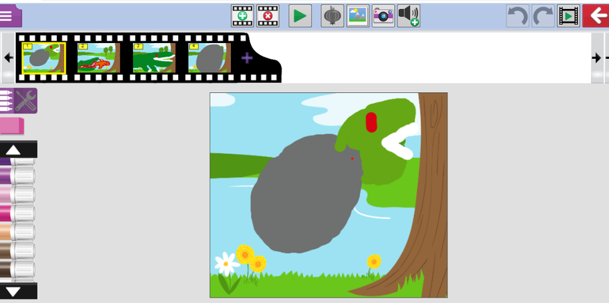 Jacob made an animation about the lifecycle of a crocodile! Snappy work!