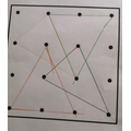 Finding triangles with one dot inside.