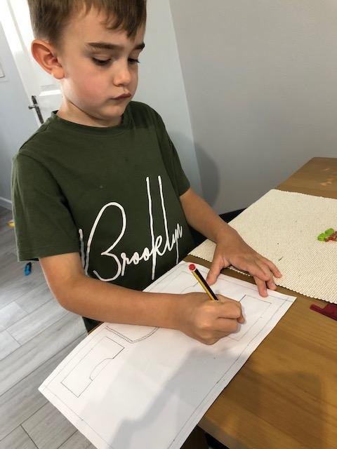 Carter planning his organic garden